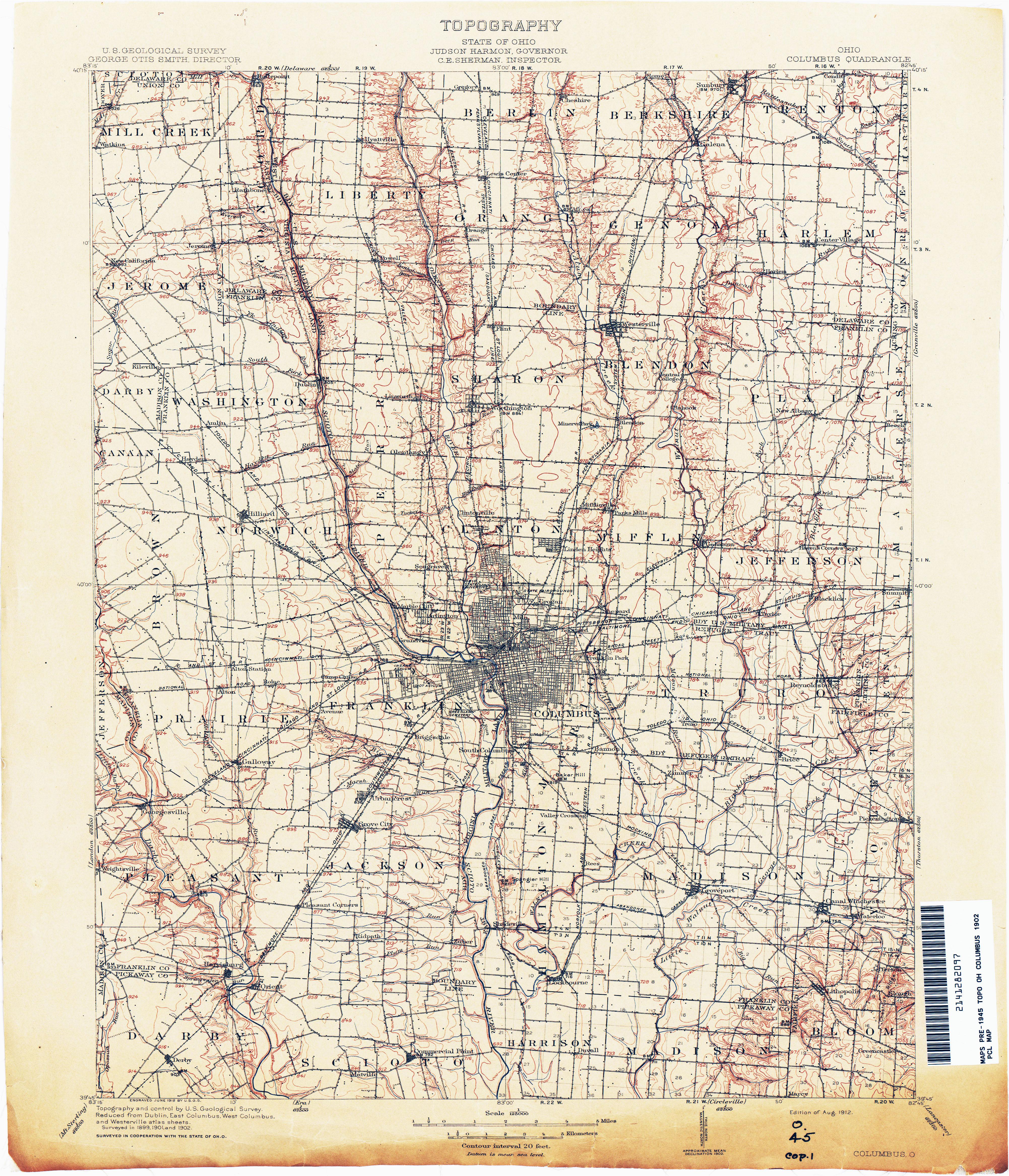 Where Is Van Wert Ohio On Map Ohio Historical Topographic