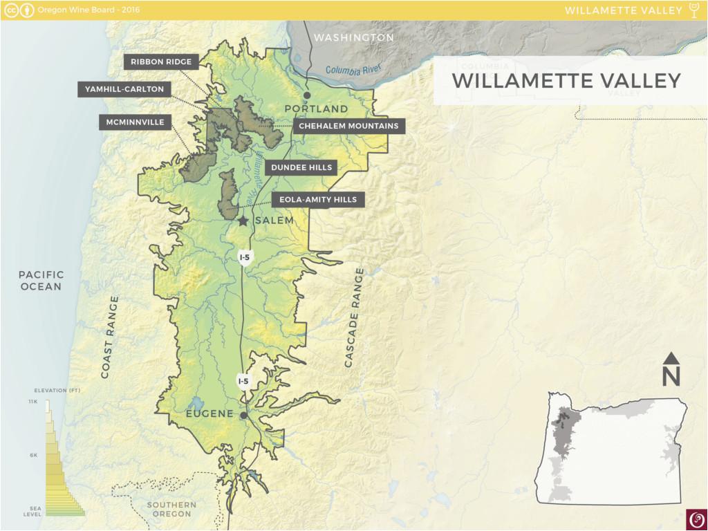 map of willamette valley oregon secretmuseum