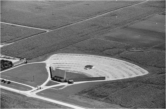 aerial view drive in theater willmar mn 1963 photo by vincent h