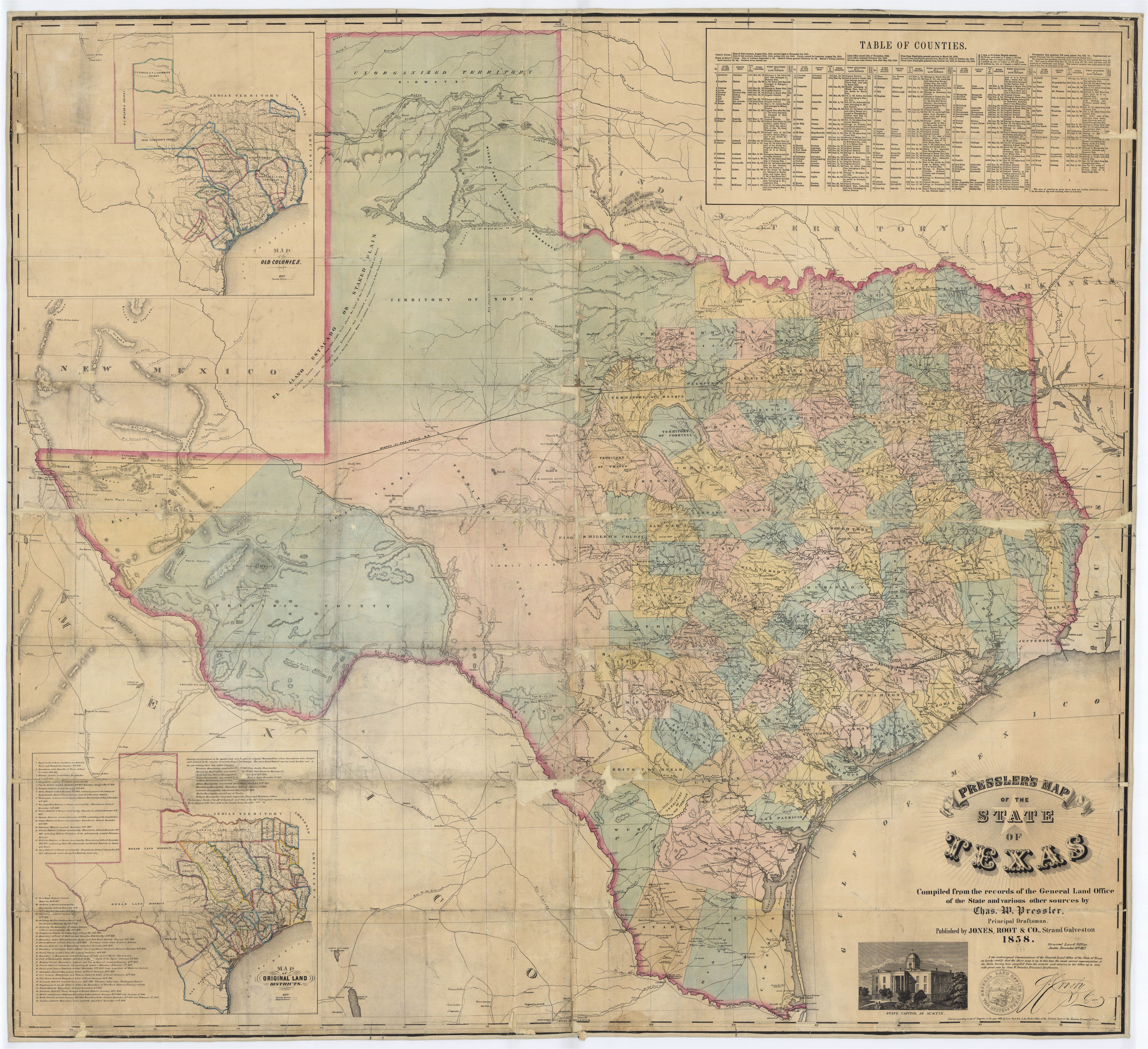 Map Of Texas 1836.1836 Map Of Texas Vintage Texas Map A R T In 2019 Vintage Maps Texas