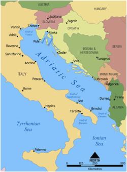 Adriatic Coast Italy Map Adriatic Sea Wikipedia