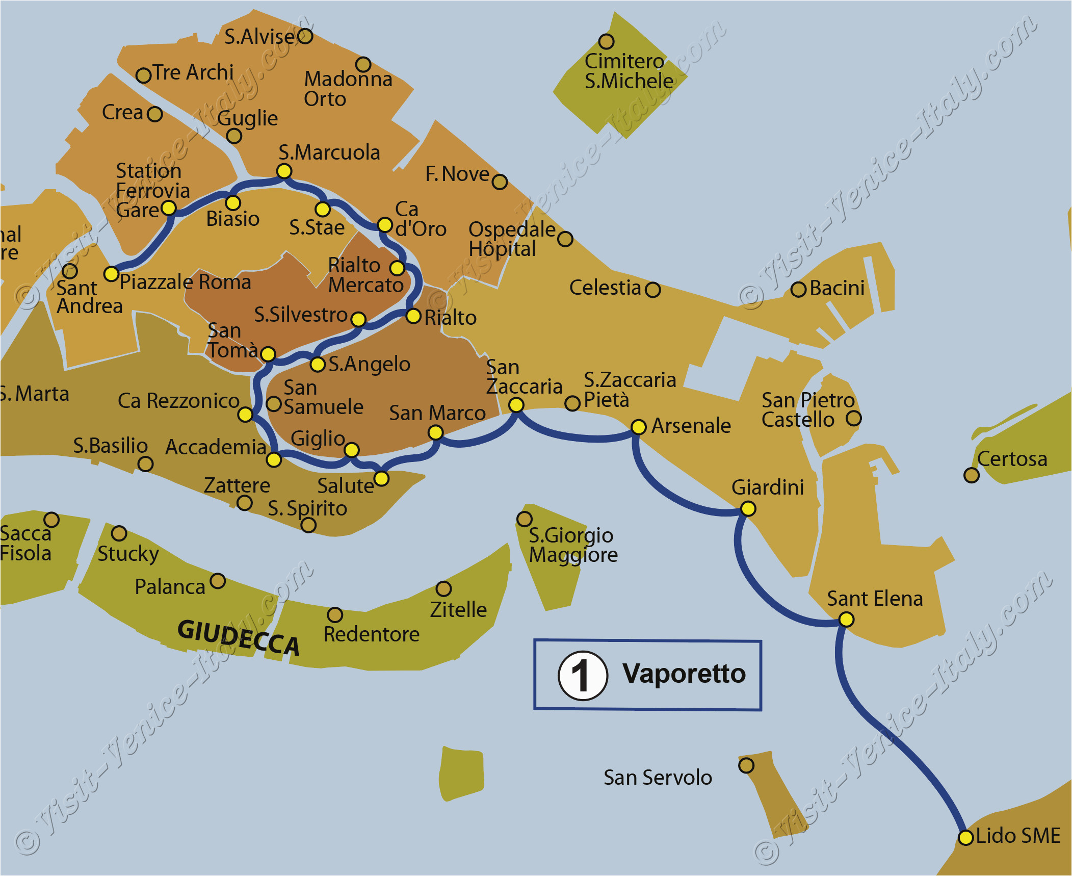 transport vaporetto waterbus bus lines maps venice italy