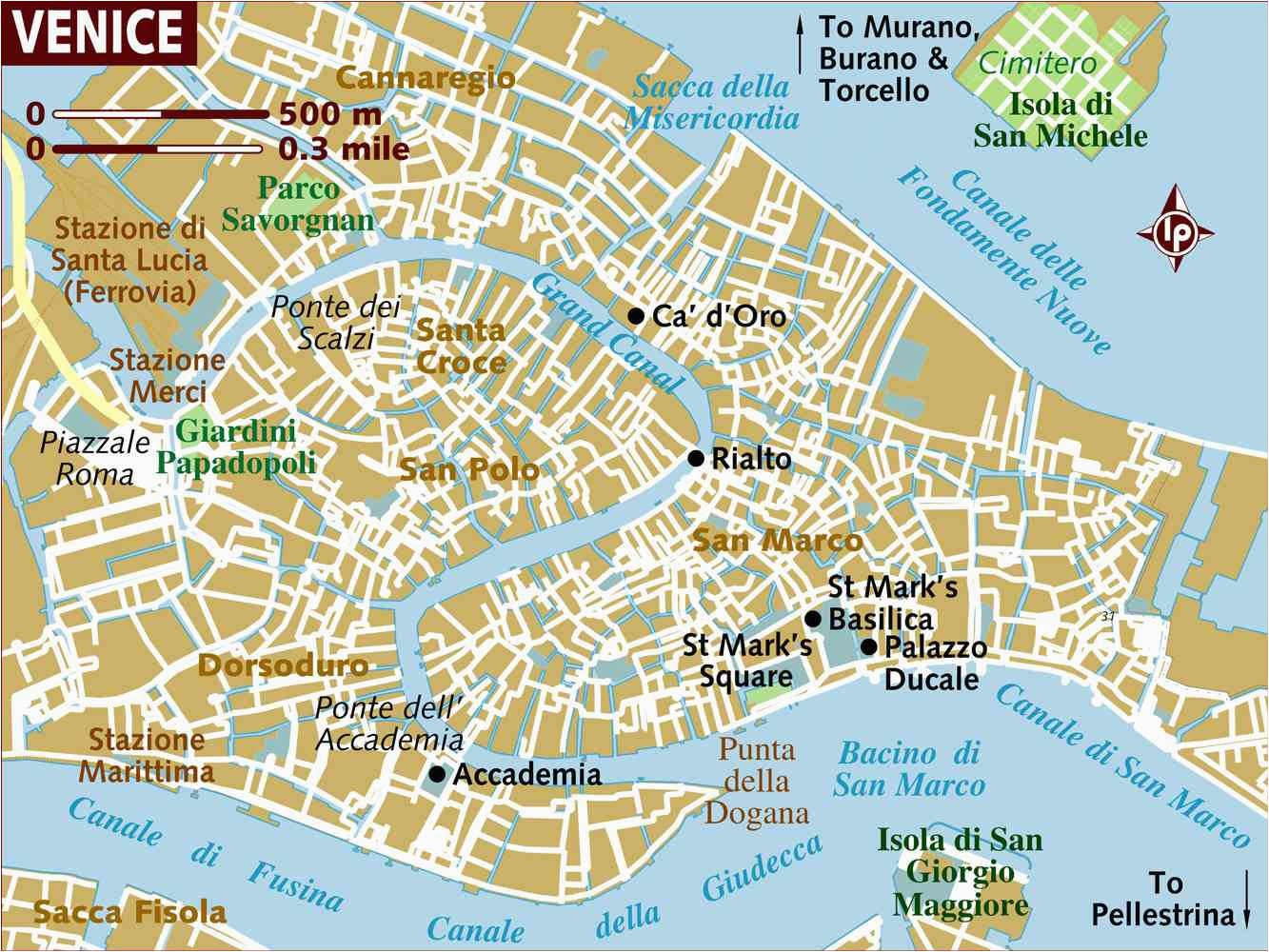 venice neighborhoods map and travel tips