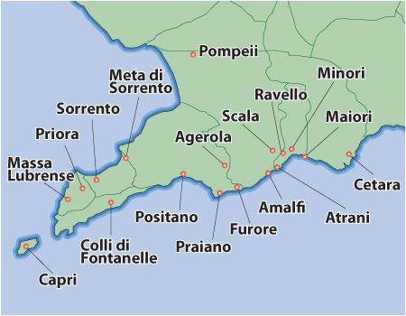 amalfi coast map amalfi villas amalfi coast holiday apartments