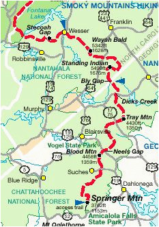 Appalachian Trail In Tennessee Map 14 Best Appalachian Trail Georgia Images Hiking Trails