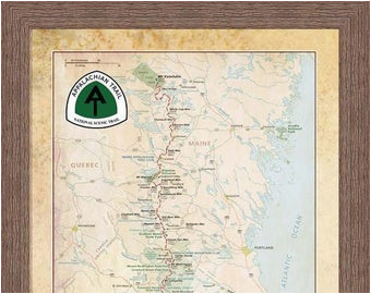 appalachian trail map etsy
