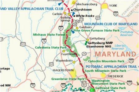 Appalachian Trail Map Tennessee Georgia Appalachian Trail ...