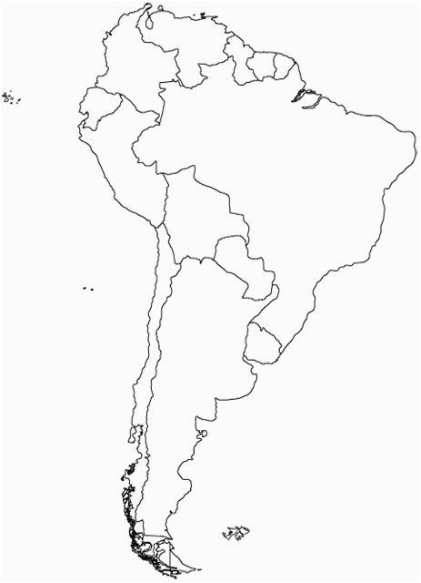 Blank Map Of Texas south America Spanish Education south ...