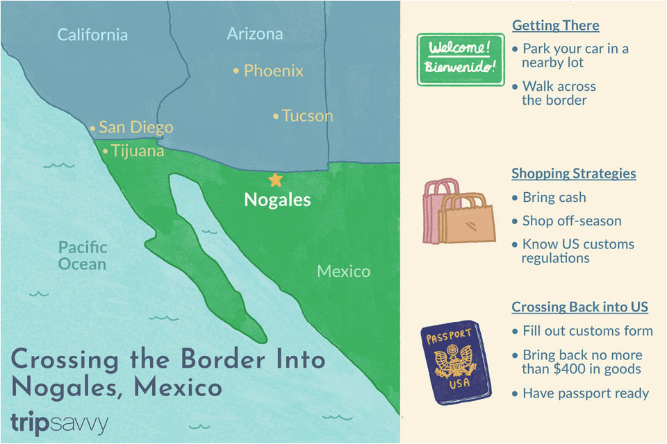 crossing the border into nogales sonora mexico