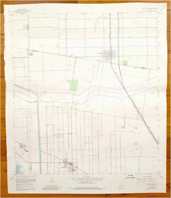 antique santa rosa texas 1969 us geological survey topographic map