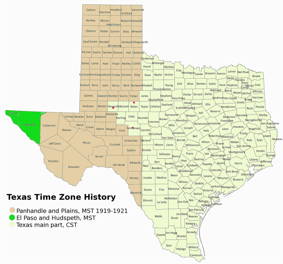time zone map texas woestenhoeve