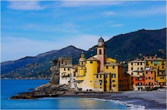 camogli panorama dal lungomare picture of camogli italian