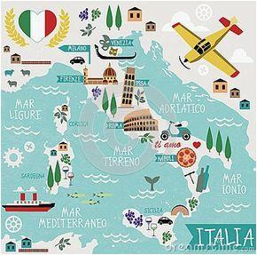 cartoon map of italy printable italian tidbits in 2019 italy