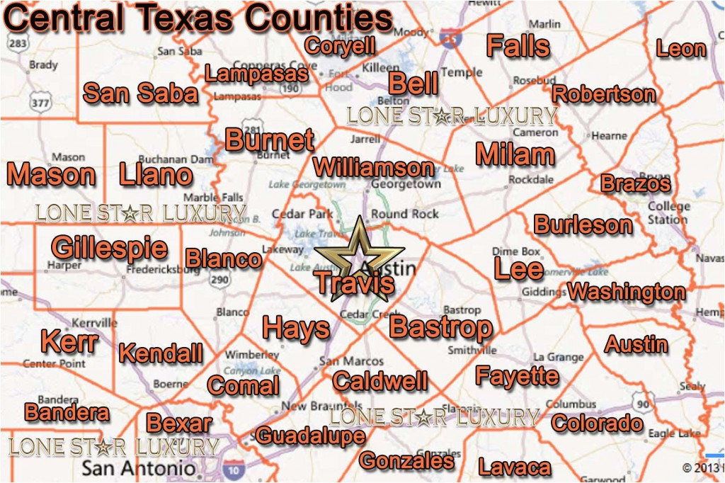map of central texas counties business ideas 2013