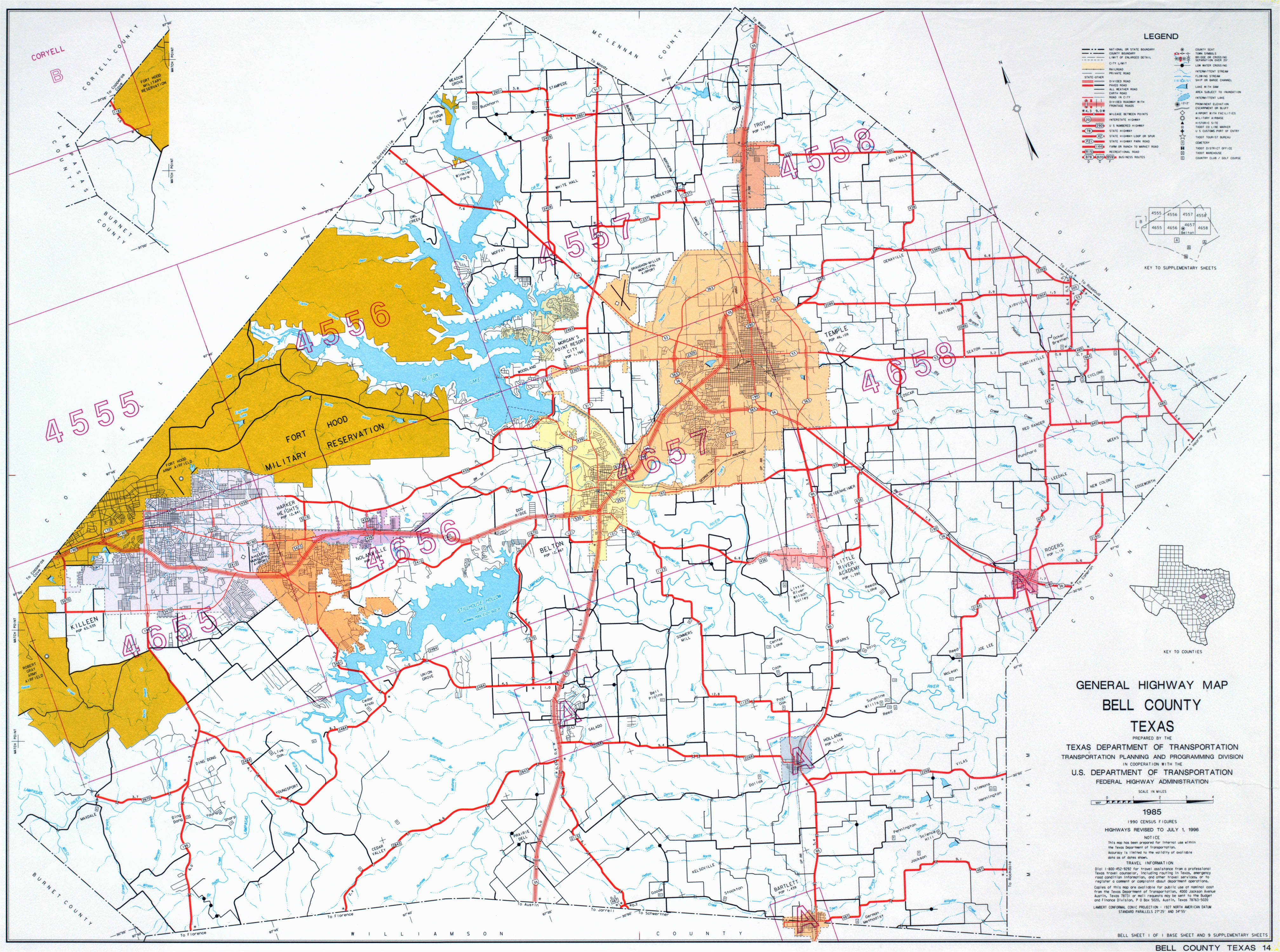 Central Texas Counties Map Texas County Highway Maps Browse Perry Castaa Eda Map Collection