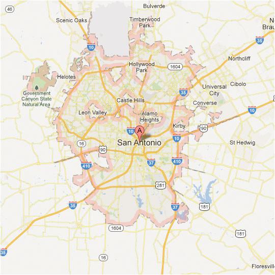 san antonio map tour texas