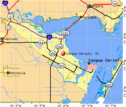 Corpus Christi Map Of Texas.City Map Of Corpus Christi Texas Secretmuseum