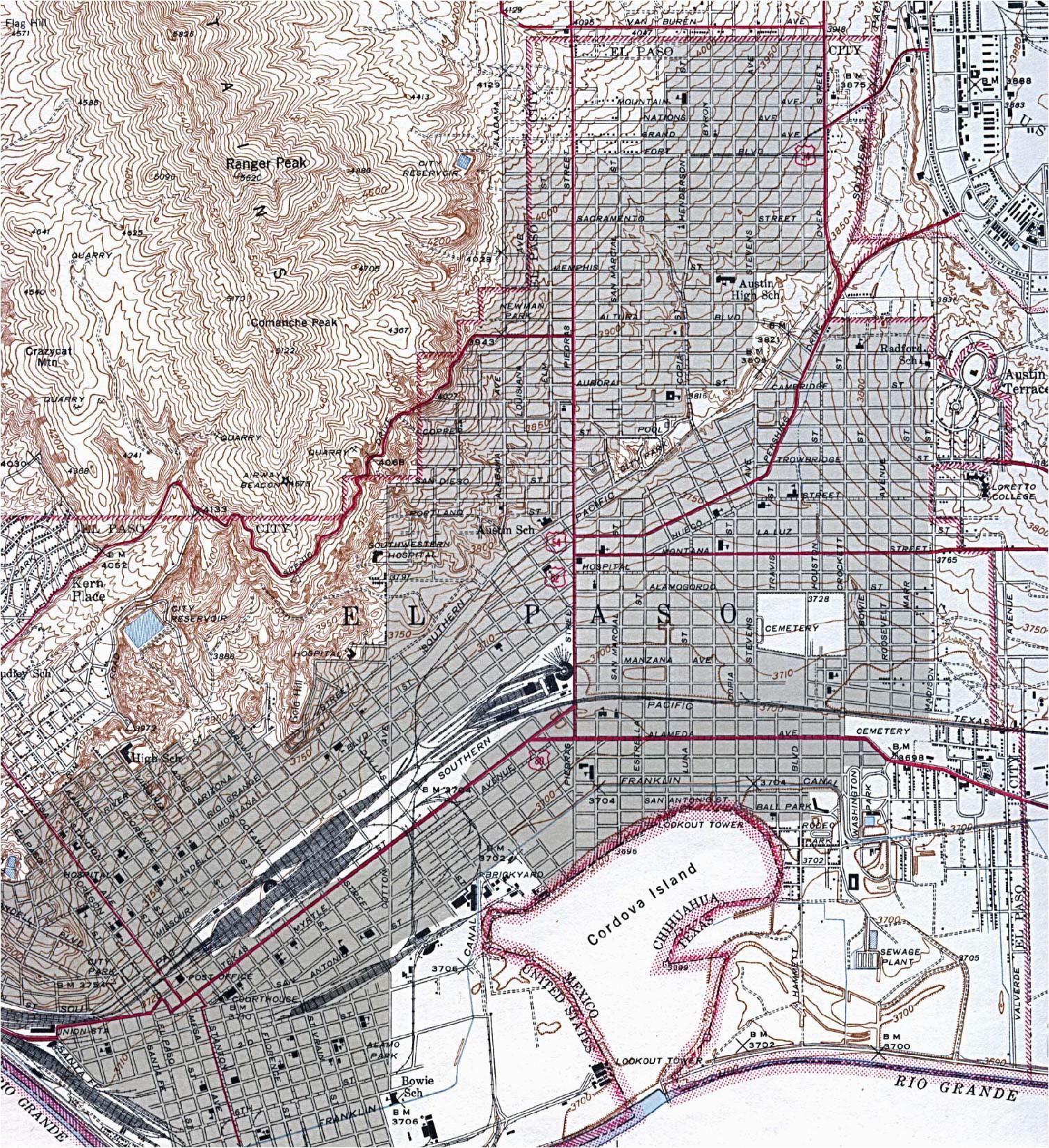 city map of el paso texas business ideas 2013