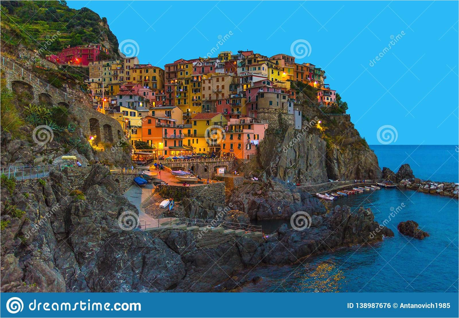 manarola traditional typical italian village in national park cinque