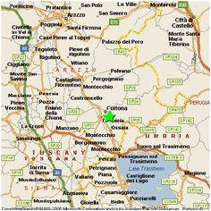 Cortona Italy Map | secretmuseum