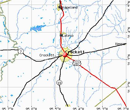 map of crockett texas business ideas 2013