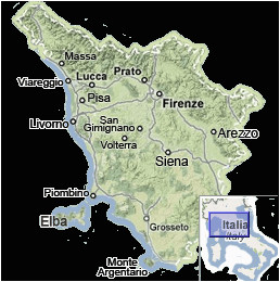 Detailed Map Of Tuscany Italy Tuscany Map Map Of Tuscany Italy