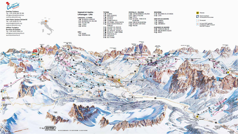 cortina d ampezzo slope map dolomiti superski