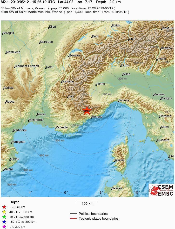 earthquake magnitude 2 1 northern italy 2019 may 12 15 26 19 utc