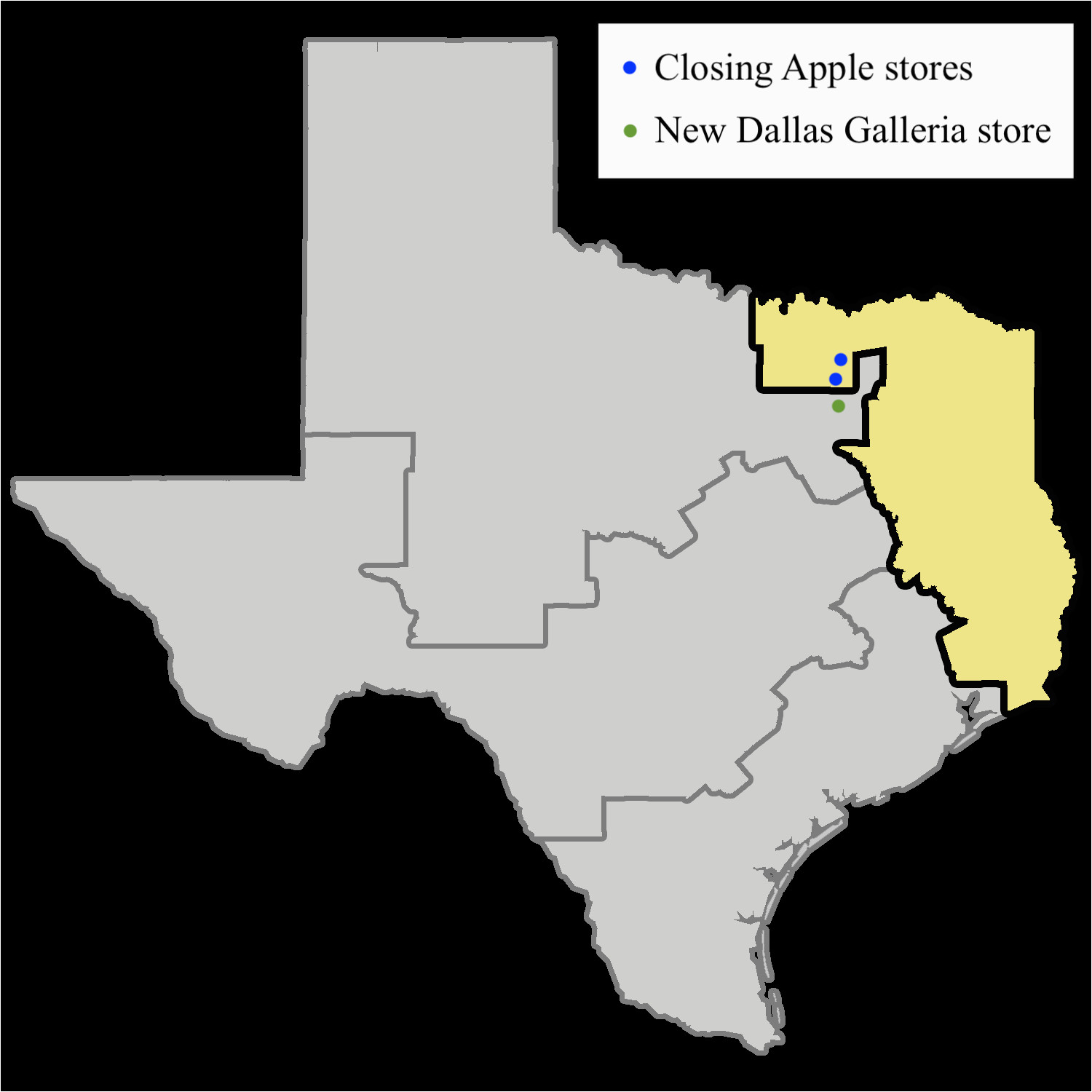 apple closes two dallas stores in apparent bid to ward off patent