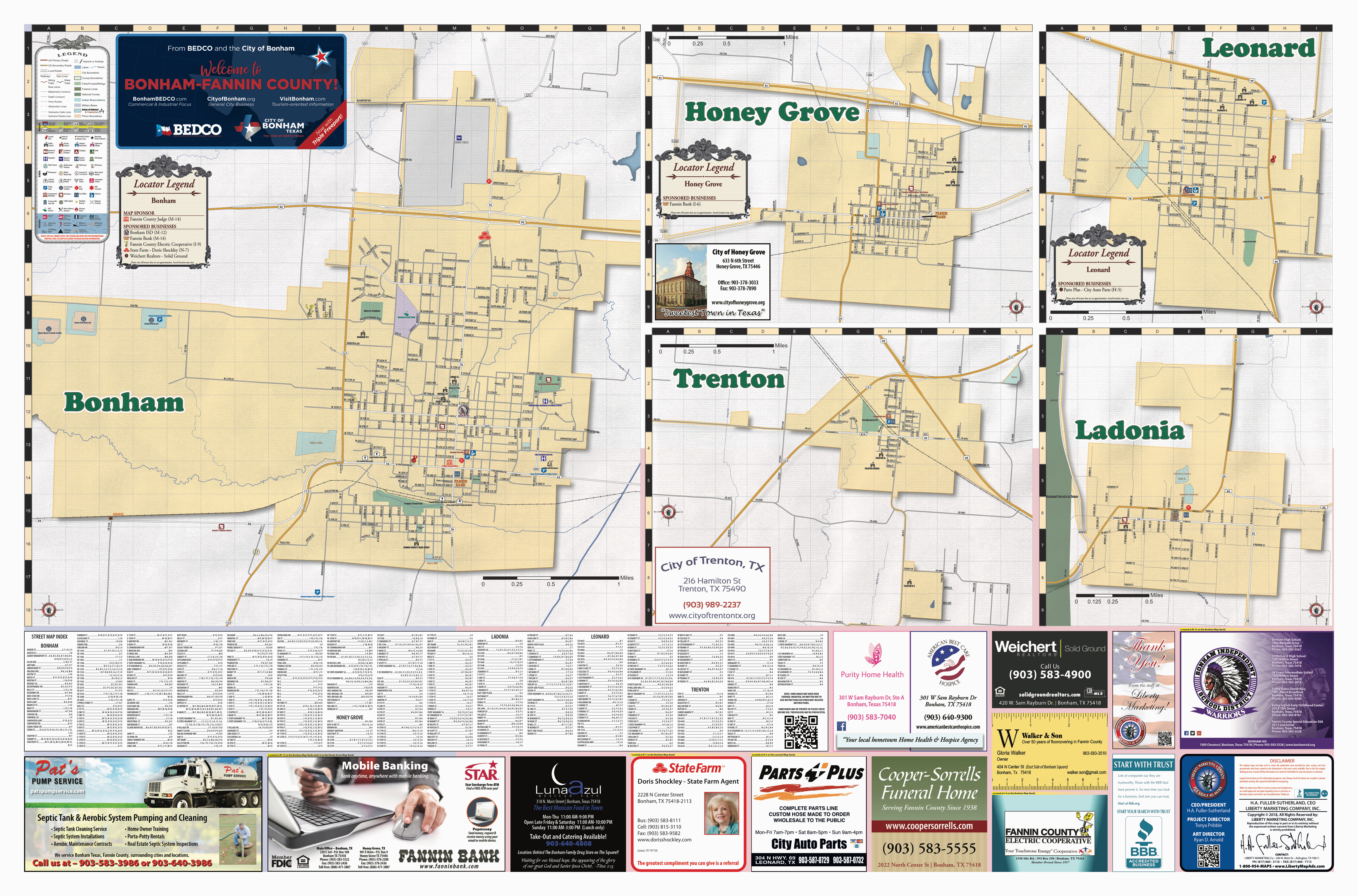 2018 edition map of fannin county tx pages 1 2 text version