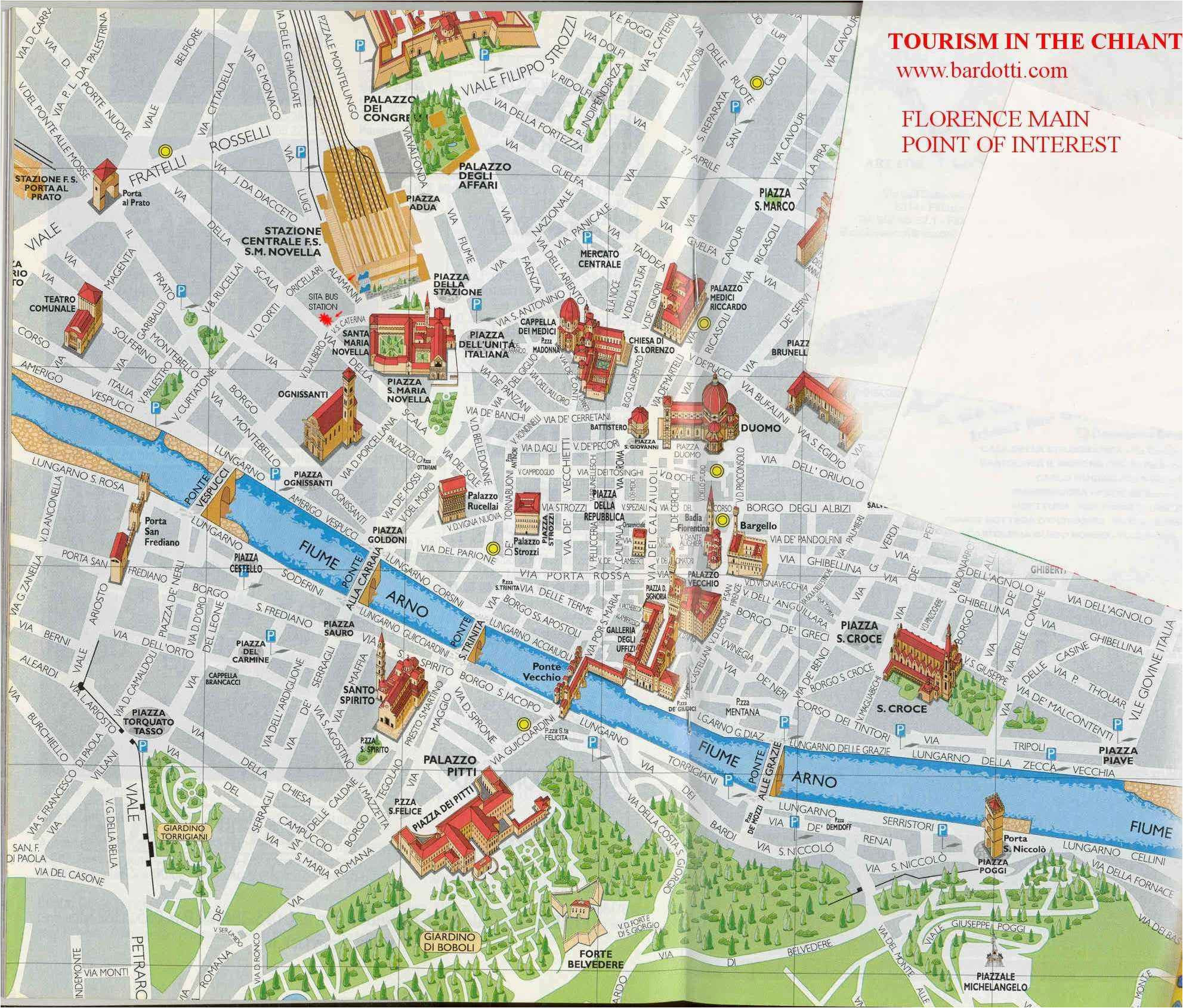 Florence Italy Tourist Map Tourism In The Chianti Guide To
