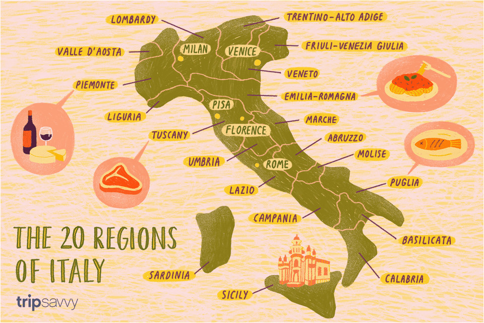 Food Regions Of Italy Map Secretmuseum