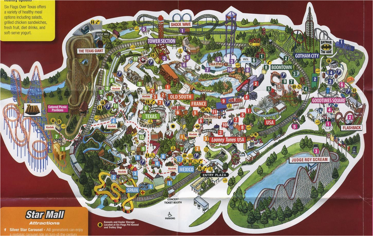 image result for six flags texas map park map designs texas