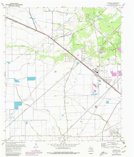 Geographic Id Map Texas Amazon Com Yellowmaps Cypress Tx topo Map 1 24000 Scale 7 5 X