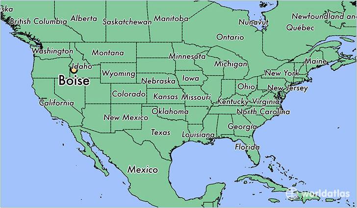where is boise id boise idaho map worldatlas com