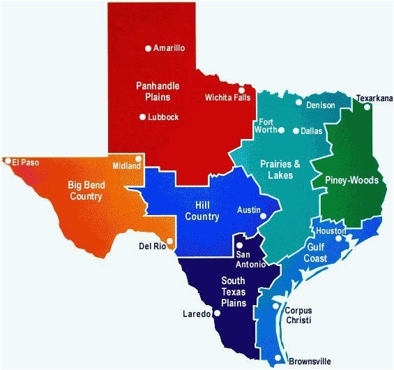 Geography Map Of Texas Interactive Map Of Texas Detailed