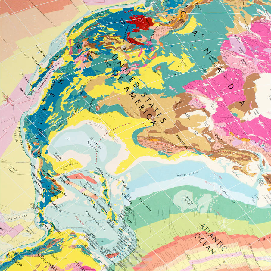 world geology map by the future mapping company notonthehighstreet com