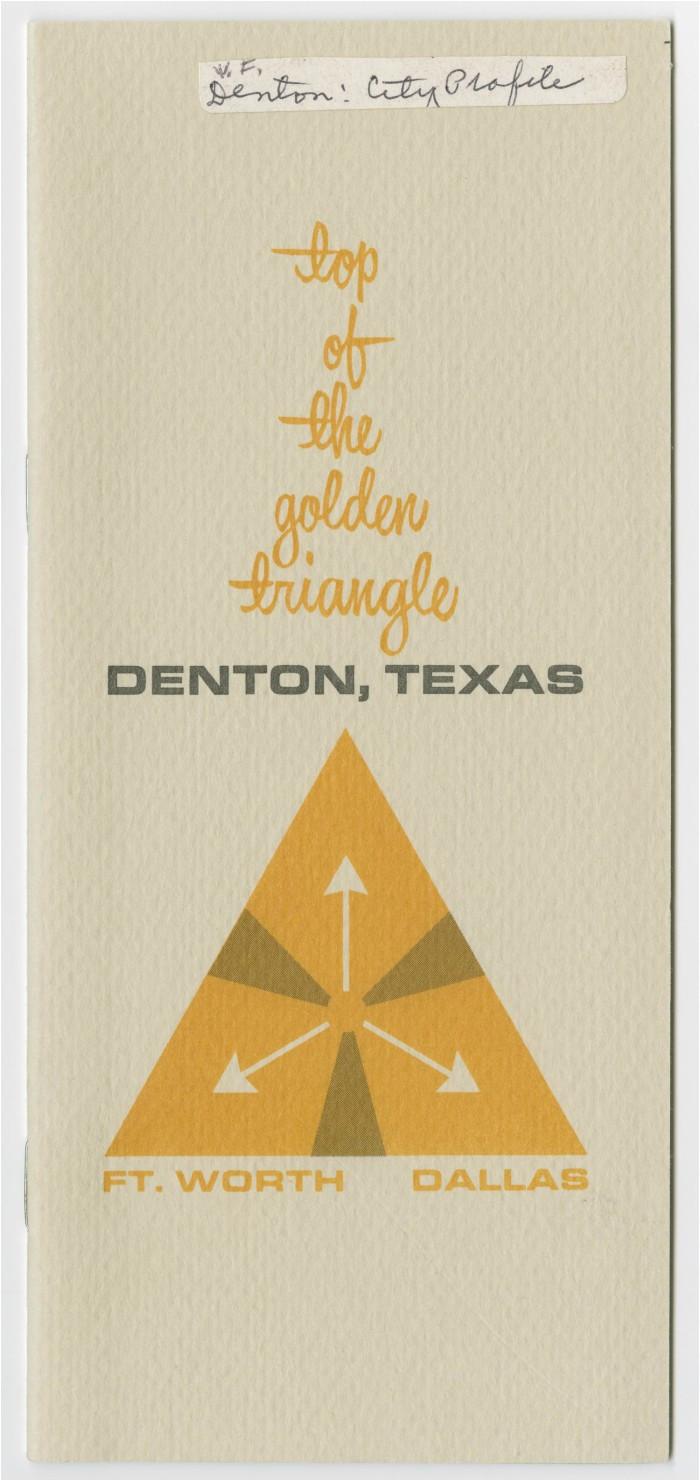 top of the golden triangle denton texas the portal to texas history
