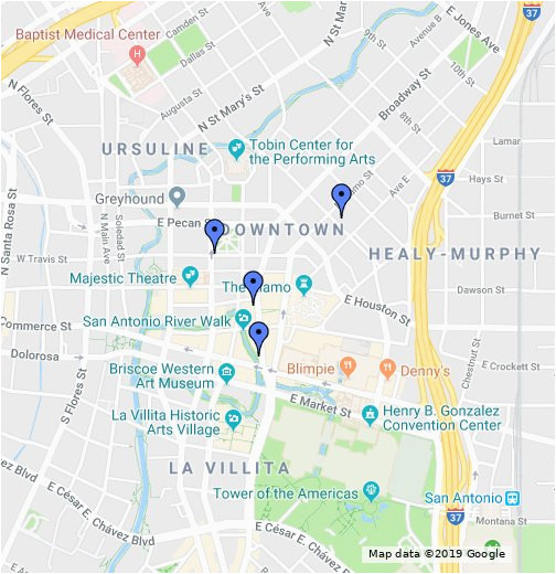 San Antonio Map Of Texas.Google Map San Antonio Texas Downtown San Antonio Map Google My Maps