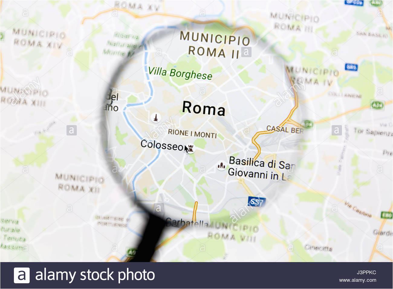 italy italian road maps stock photos italy italian road maps stock