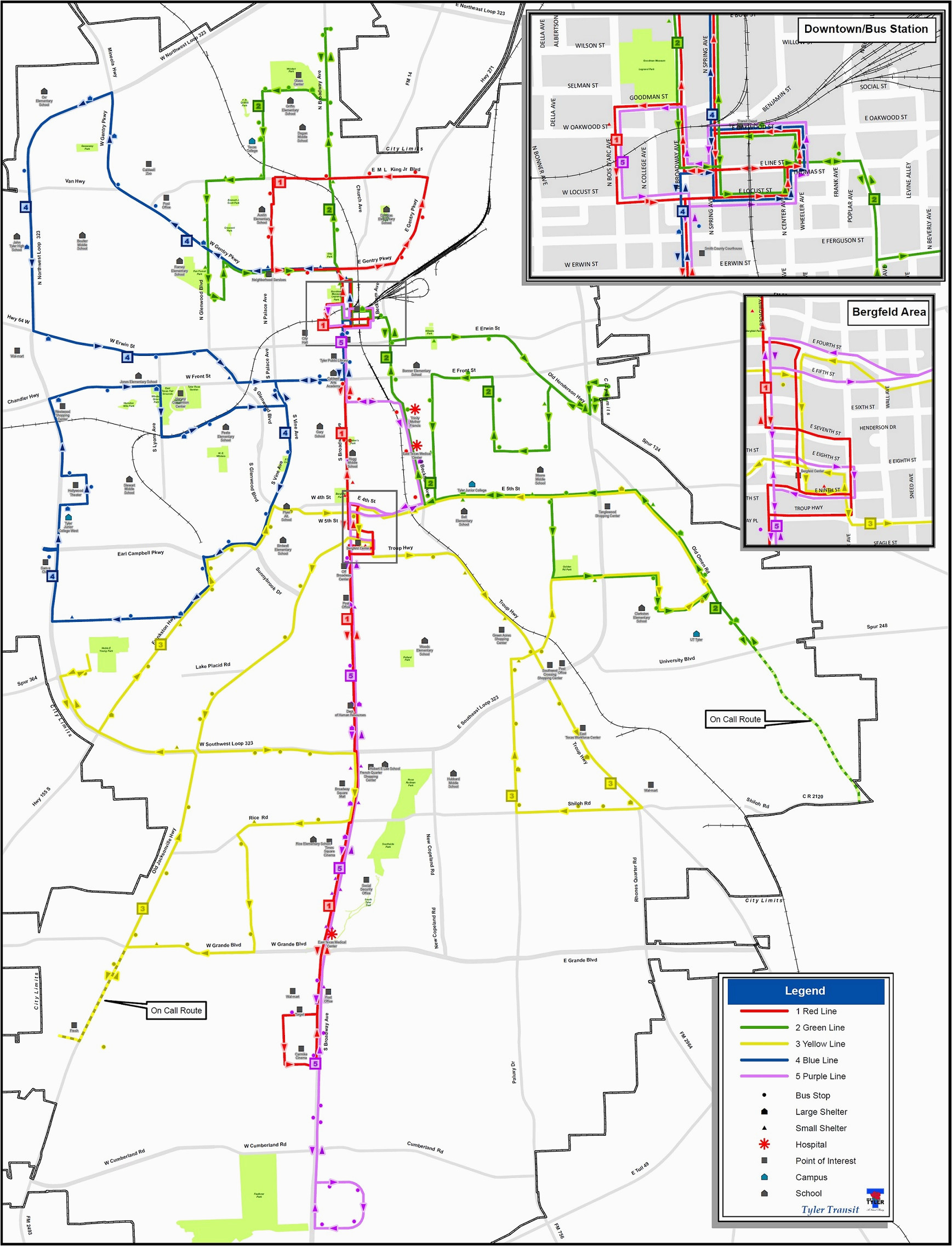 tyler texas departments tyler transit map and schedules