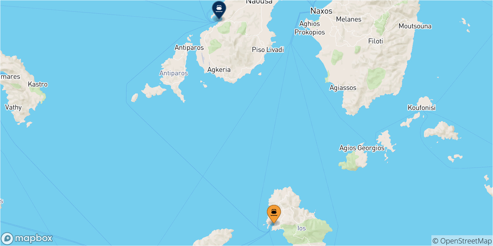Greece to Italy Ferry Route Map Ios to Paros Ferry Compare ...