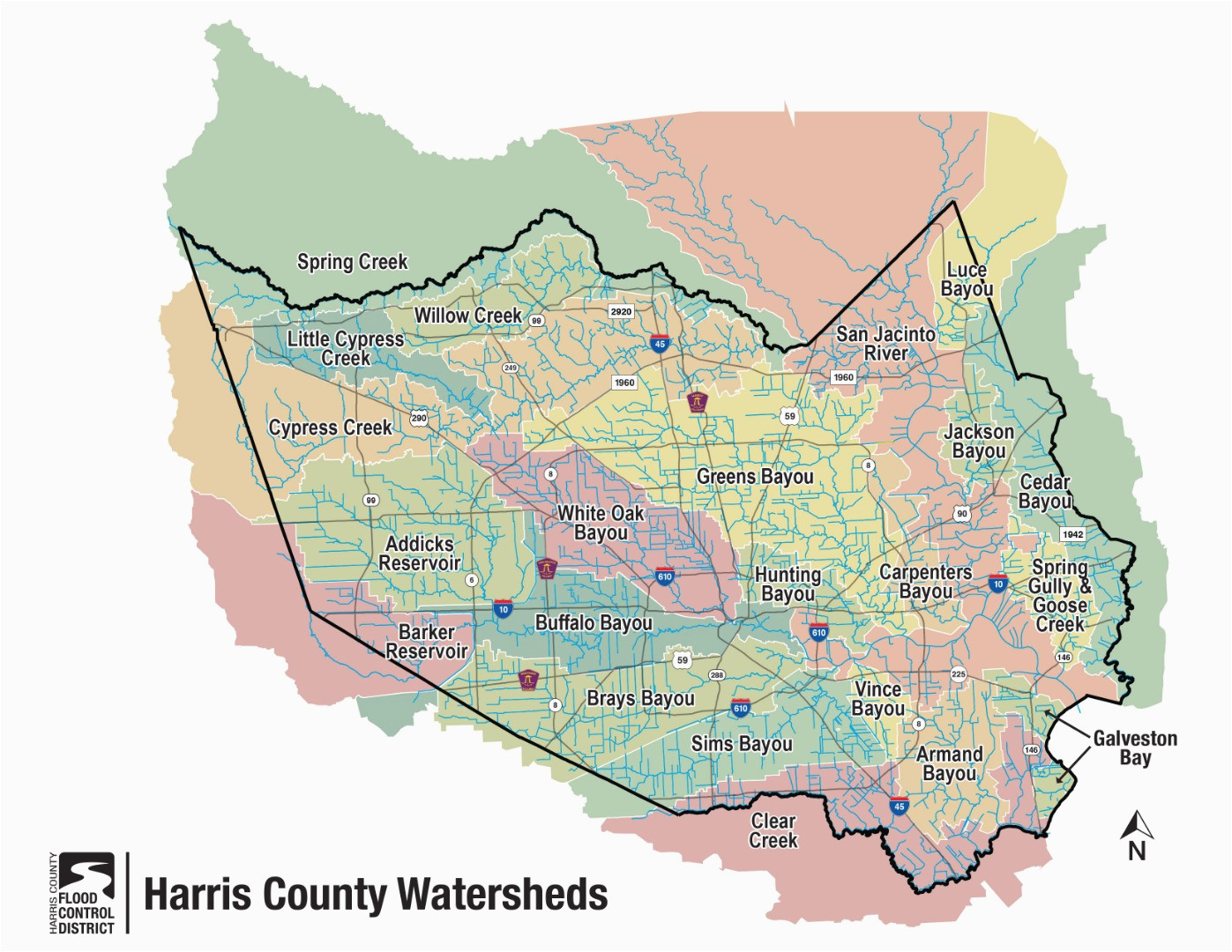 hcfcd harris county s watersheds