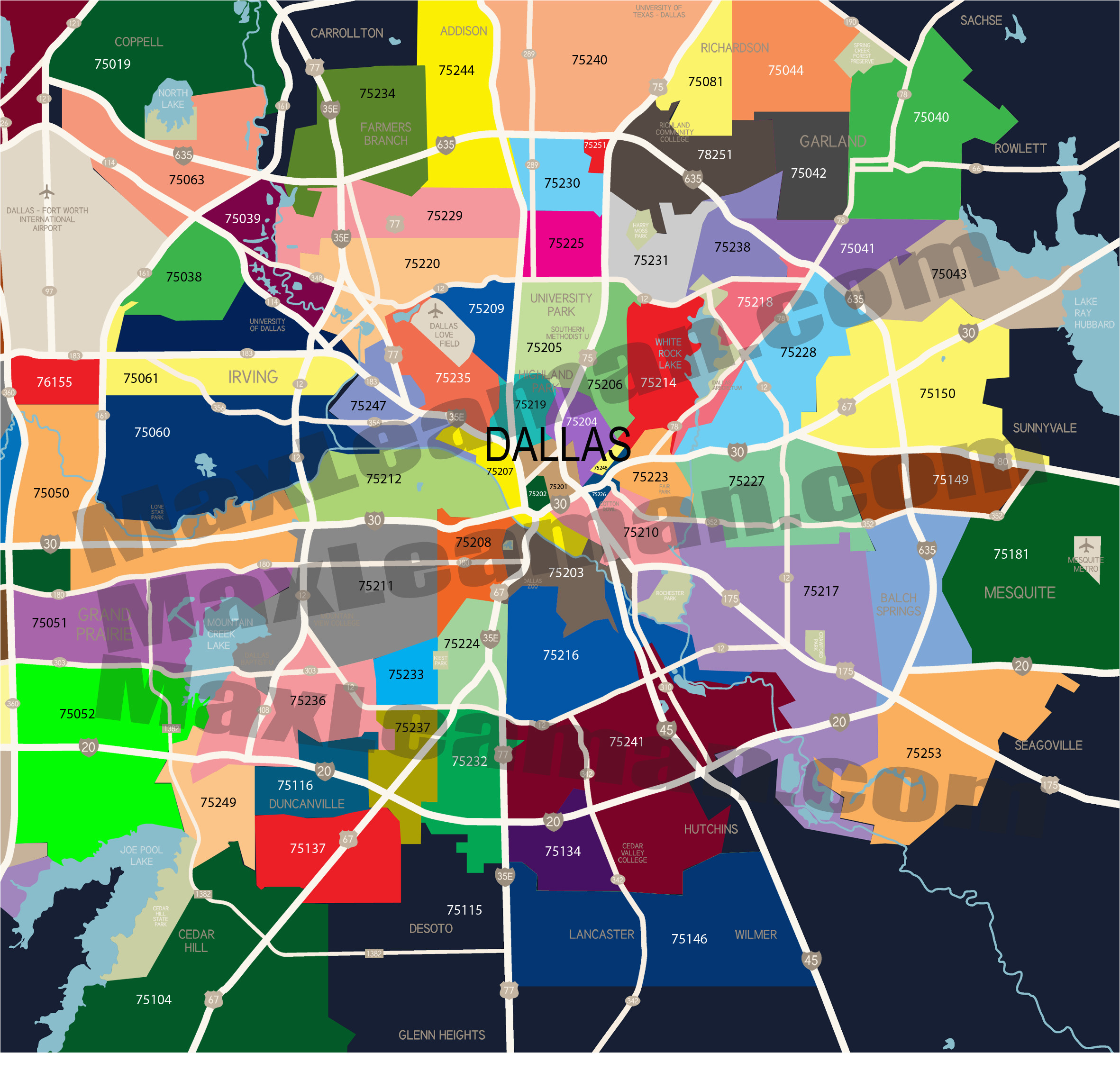 dallas zip code map mortgage resources