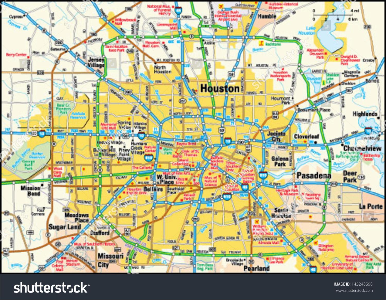 Houston Texas Street Map   secretmuseum on
