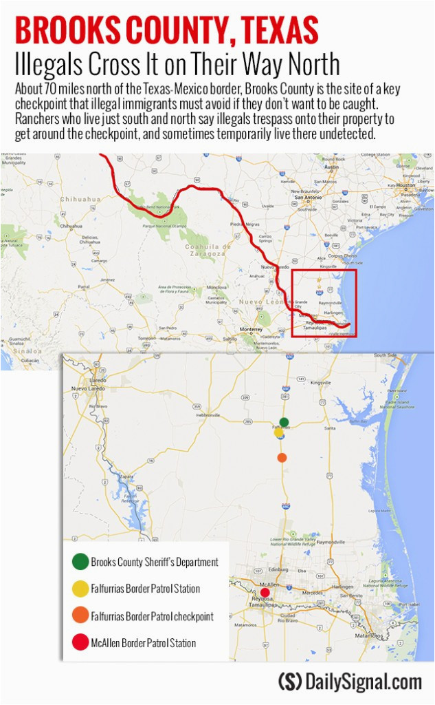Immigration Checkpoints In Texas Map Border Patrol