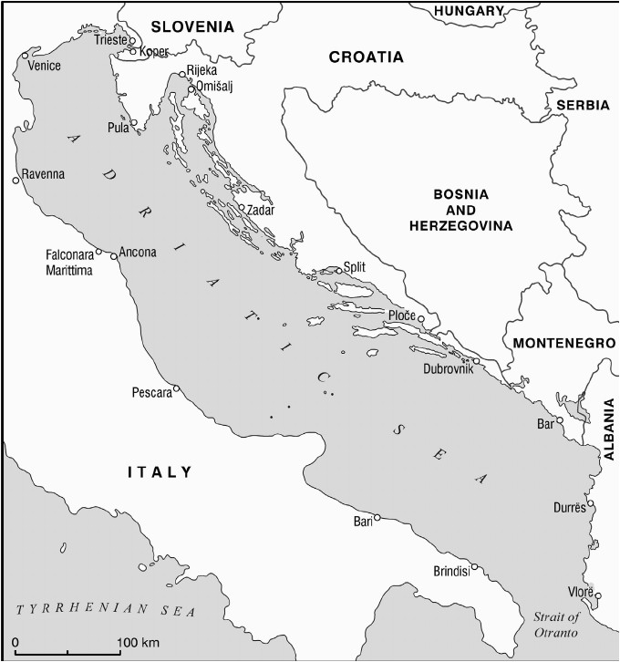 map 1 th e adriatic sea coastal states and main ports download