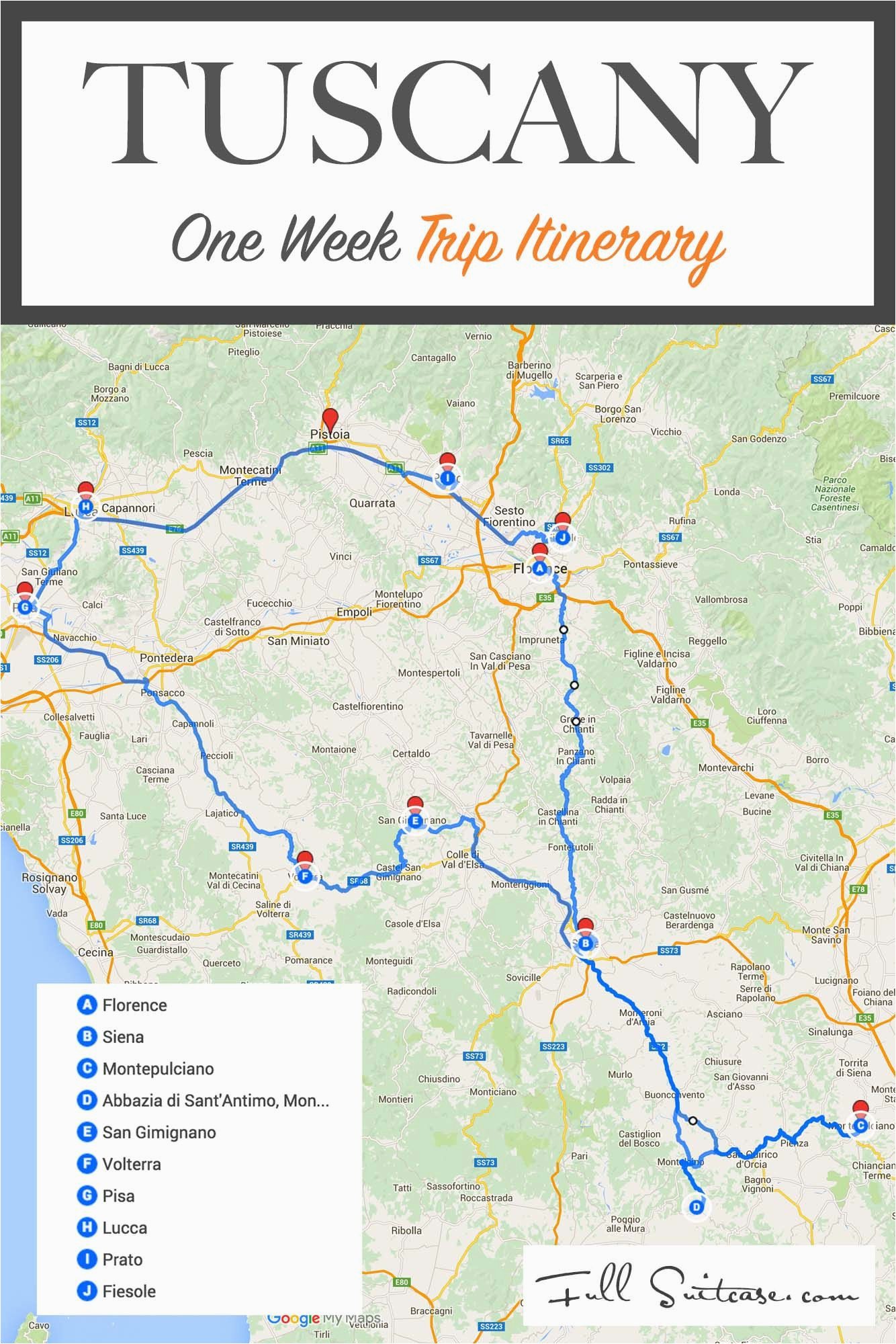 tuscany itinerary see the best places in one week florence