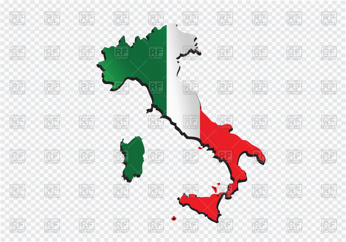italy map outline and flag vector image of signs symbols maps
