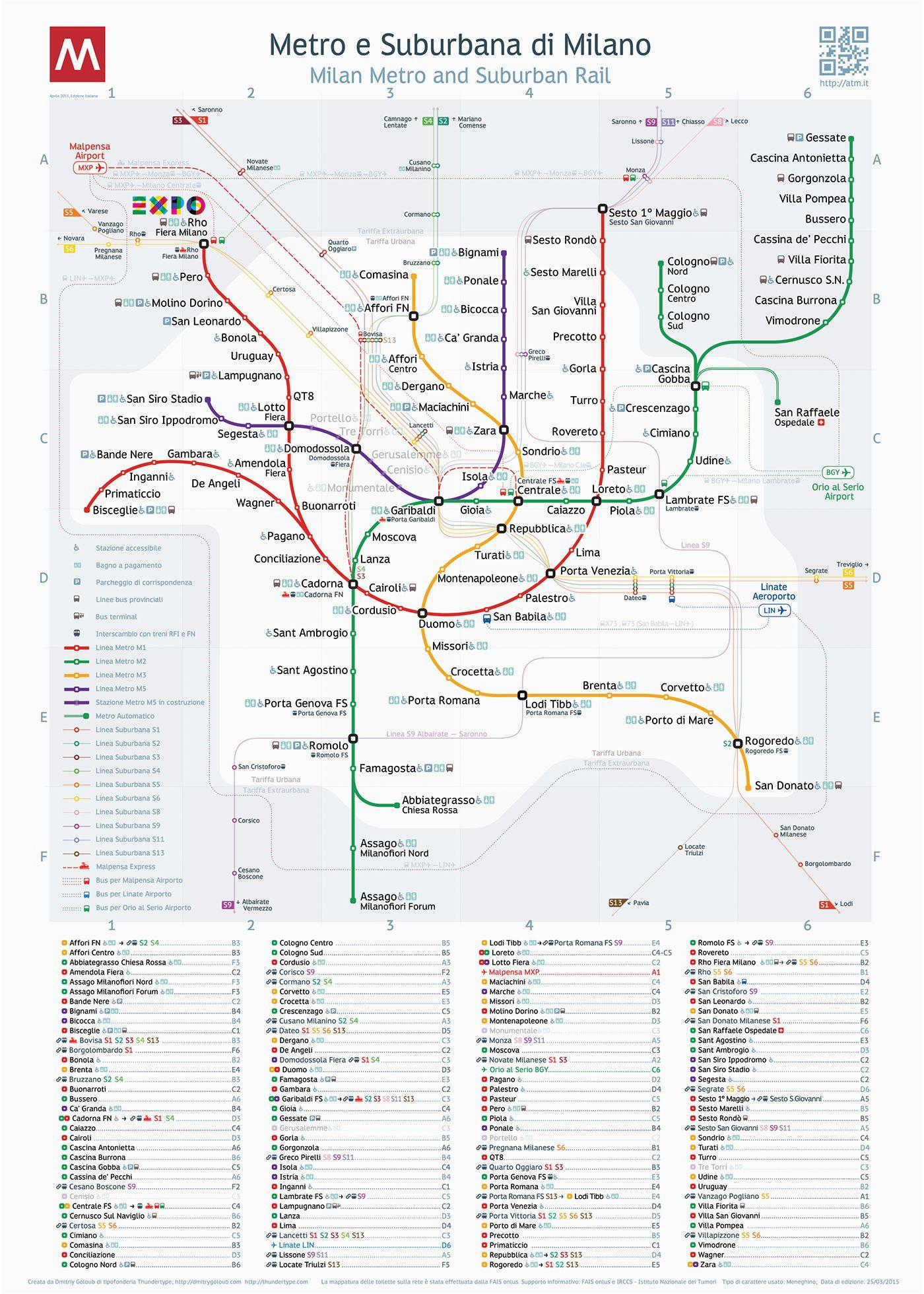 milan metro map cool